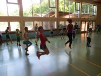 Skipping Hearts - Workshop an der Grundschule Kürnbach.